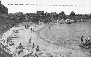 Rockport MA Old Garden Beach Summer Houses Headlands Postcard