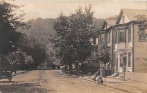 E73/ Clarington Ohio RPPC Postcard 1910 Fiest Undertaking Hardware Store