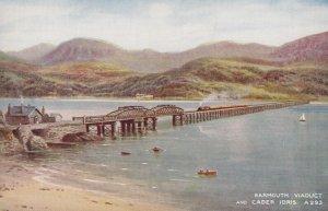 BARMOUTH, Wales, 1930-1950s; Barmouth Viaduct And Cader Idris