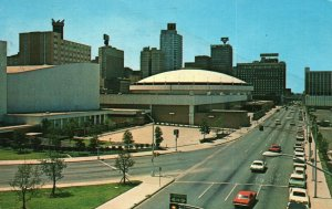 Fort Worth, TX, Fine Arts Theater, Great Arena, 1971 Chrome Postcard g9061