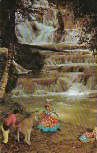 Jamaica Scene At Dunns River Falls