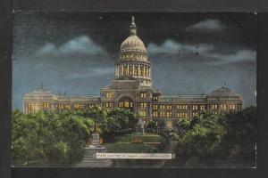 State Capitol at Night,Austin,TX Postcard