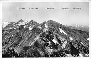 Switzerland Blick vom Braema-Buel, Mountains Jakobshorn Tinzenhorn, Piz Michel