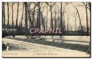 Old Postcard Chateau d'Anet The Waterfall
