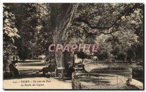 Old Postcard Vichy Un Coin Du Parc Des Cygnes In Basin