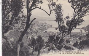 Monaco Monte Carlo Vue prise entre les Oliviers