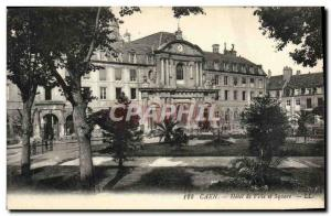 Postcard Caen Old City Hall and Square