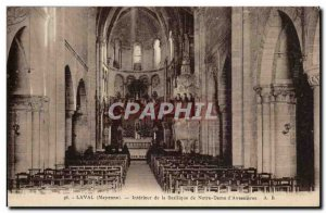 Laval - Interior of the Basilica of Our Lady of & # 39 Avesnières - Old Post...