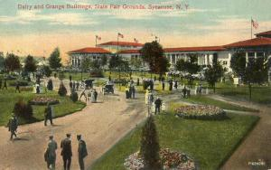NY - Syracuse. State Fairgrounds. Dairy and Grange Buildings