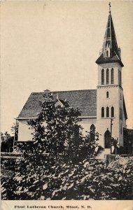 G16/ Minot North Dakota Postcard 1913 First Lutheran Church 9