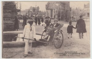 Marseille Colonial Exhibition, 1922, Travel By Rickshaw PPC To H Levy, Neuilly