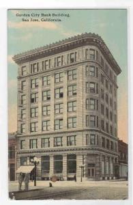 Garden City Bank Building San Jose California 1918 postcard