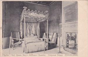 Scotland Edinburgh Holyrood Palace Charles I Bed Queen Mary's Audience Chamber