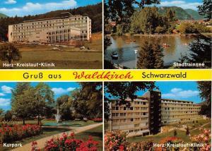 Gruss aus Waldkirch Schwarzwald, Kurpark Herz Kreislauf Klinik Stadtrainsee