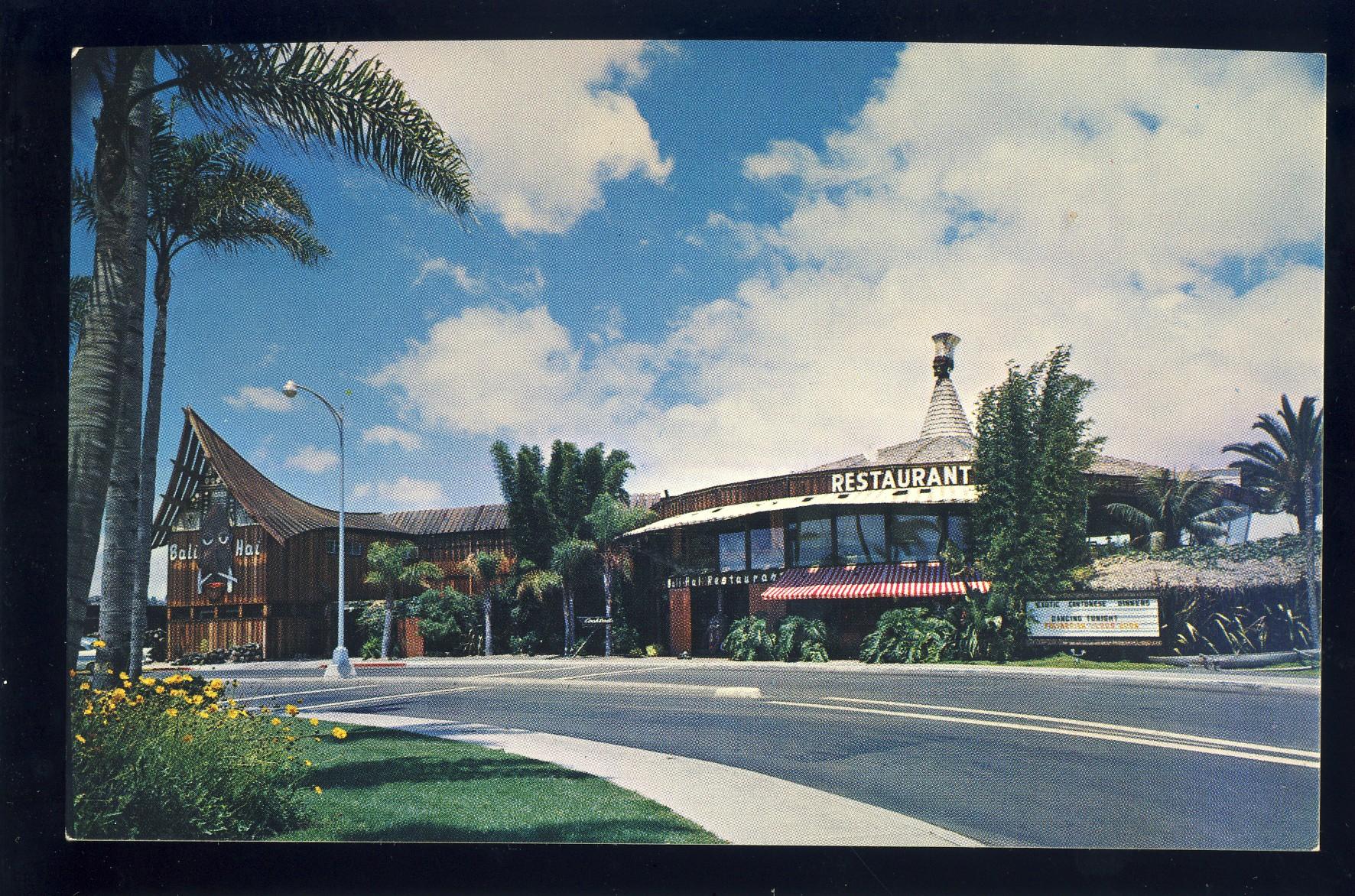Where Is Bali Hai Island san diego, california/ca/calif postcard, bali hai restaurant