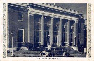 Troy Alabama Post Office Vintage Postcard AA24236