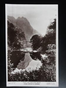 Derbyshire: High Tor Matlock Bath from Artist Corner RP c1933