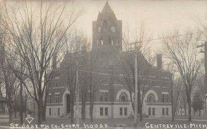 LP55 Centreville   Michigan  Postcard RPPC St. Joseph Court House
