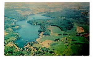 NY -  Findley Lake. Aerial View