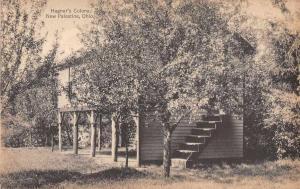 New Palestine Ohio Hagner's Colony Cabin Vintage Postcard JA455557