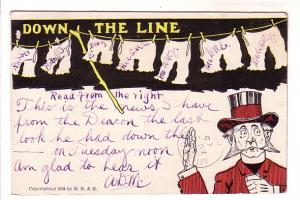 Minister Not Looking at Ladies Bloomers, E B & E 1905, Funny Message to Mrs A...
