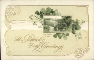 St. Patrick's Day Near Kincora Co. Clare c1910 Winsch Postcard