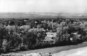 Greybull Wyoming Birdseye View Of City Real Photo Antique Postcard K105208