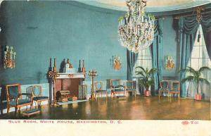 Blue Room, White House, Washington DC Divided Back