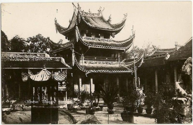 Singapore Chinese Temple early RP postcard A