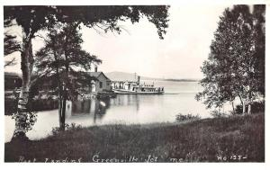 Steamship Boat Landing at Greenville Junction ME RPPC Postcard