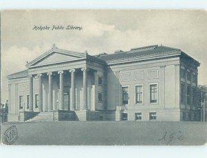 Pre-1907 LIBRARY SCENE Holyoke - Near Springfield Massachusetts MA AF1862