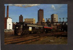 MA Penn Central Railroad Train Locomotive 4060 Boston Massachusetts Postcard