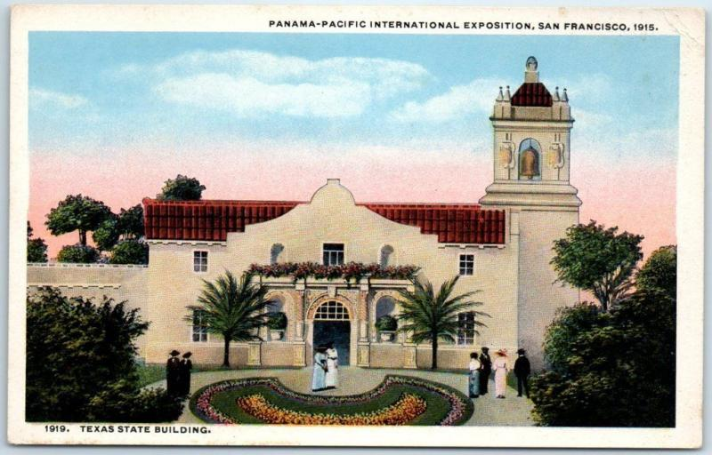 1915 PPIE Expo San Francisco Postcard Texas State Building Curteich Unused