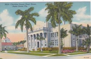 Florida Punta Gorda Charlotte County Court House Curteich