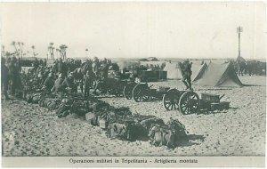 CARTOLINA d'Epoca - LYBIA LIBIA - ARTIGLIERIA