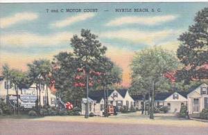 South Carolina Myrtle Beach T &  C Motor Court 1951