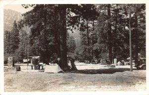 LP29    Crystal Lake California RPPC Postcard Camp Ground Frashers