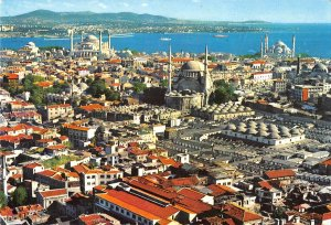 B110721 Turkey Istanbul St. Sophia and The Bleue Mosque Panorama