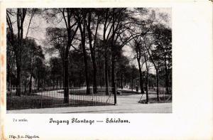 CPA SCHIEDAM Ingang Plantage NETHERLANDS (602154)