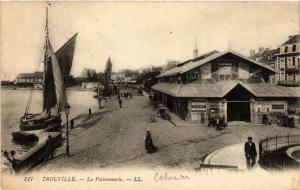 CPA TROUVILLE - La Poissonnerie (475942)