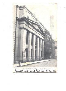 B&W, School of Law, Boston Massachusetts, NE Paper & Stationery Co 1960, Flag...