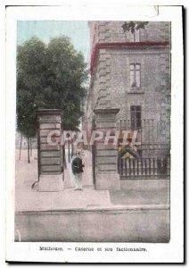 Old Postcard Mulhouse barracks and sentry