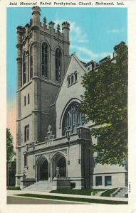 Richmond Indiana~Memorial United Presbyterian Church @ Sunrise 1940s