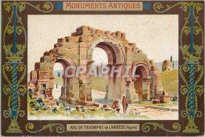 Old Postcard Arc de Triomphe Lambese (Algeria) Monument Antiques