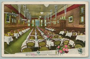 Poughkeepsie New York~Smith Brothers Restaurant Dining Room~Art on Wall~1951