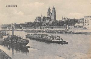 Magdeburg Schiff Boats Bateaux Panorama Cathedral Dom