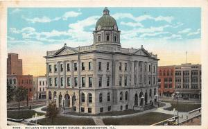 Illinois Il Postcard c1910 BLOOMINGTON McLEAN County Court House