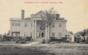 SUPERIOR , Nebraska , 1900-10s ; Residenc of P. Johnson