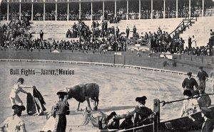Bull Fights Juarez Mexico Tarjeta Postal Unused