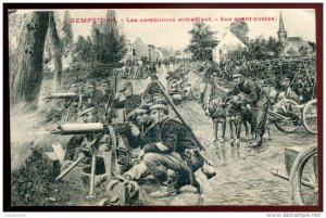 dc785 - BELGIUM Sempst WWI 1914 Military. Belgian Soldiers. Machine Gun Unit